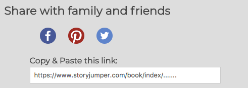 how do i share my book storyjumper support
